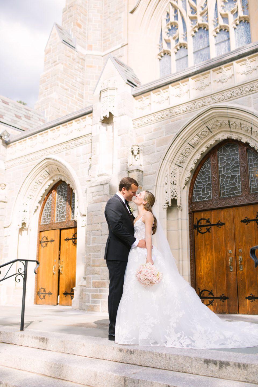 church wedding portrait by NY wedding photographer Ashley Mac Photographs