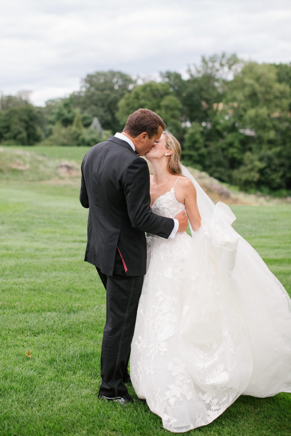 NY wedding portraits on golf course by Ashley Mac Photographs