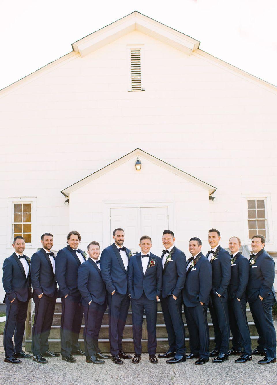 Sandy Hook Chapel groomsmen portraits with Ashley Mac Photographs