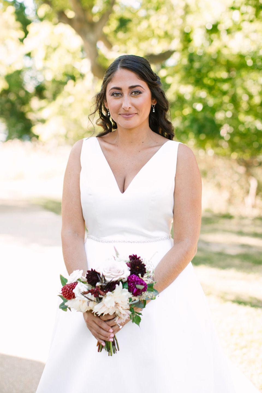 bridal portrait for fall wedding by Ashley Mac Photographs