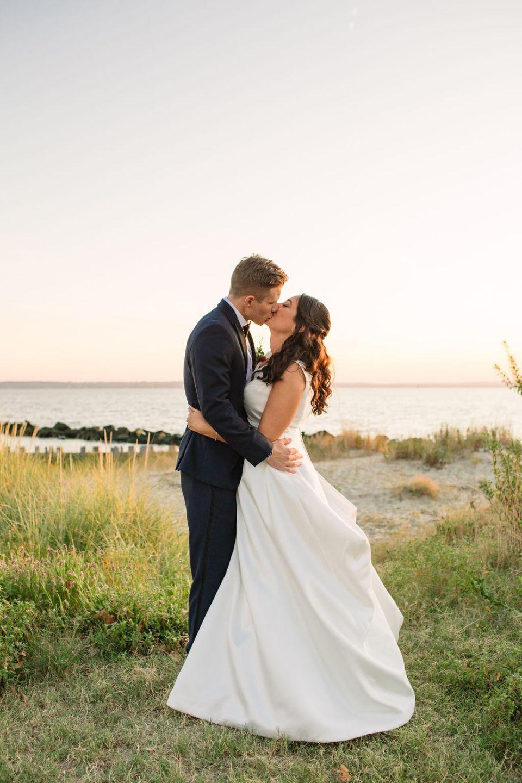 wedding photos on Sandy Hook beach photographed by Ashley Mac Photographs
