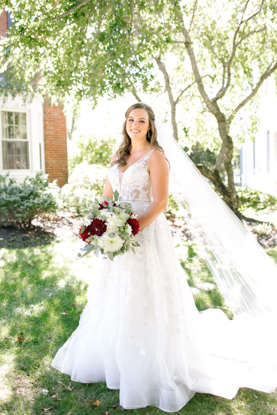 New Jersey wedding day portraits of the bride by Ashley Mac Photographs