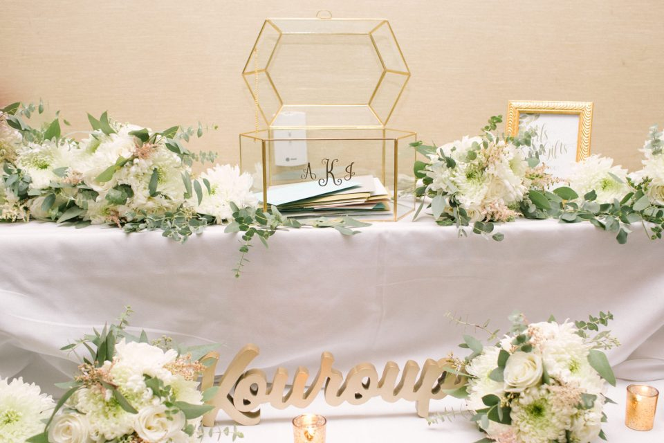 wedding card table photographed by Ashley Mac Photographs