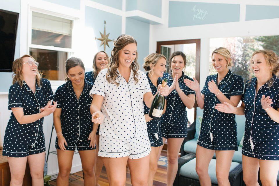 Ashley Mac Photographs photographs bridesmaids getting ready for NJ wedding day
