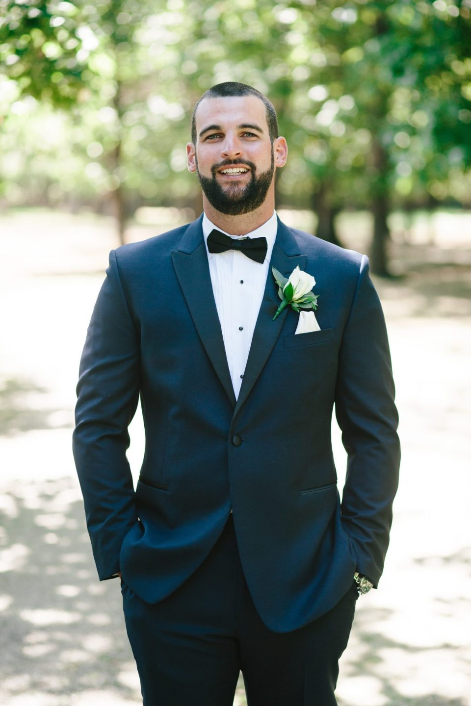 classic groom attire for Rumson Country Club Riverhouse wedding day with Ashley Mac Photographs
