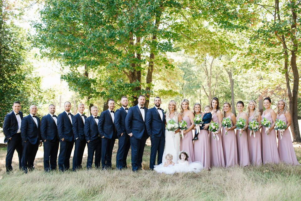 Rumson Country Club Riverhouse wedding party photographed by Ashley Mac Photographs