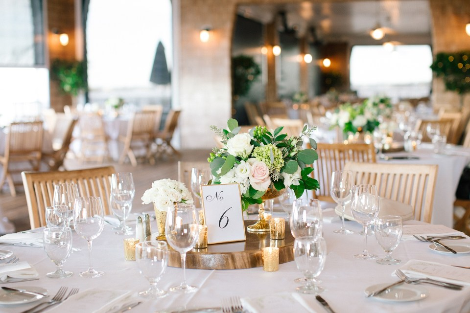 wedding centerpieces at Rumson Country Club Riverhouse photographed by Ashley Mac Photographs