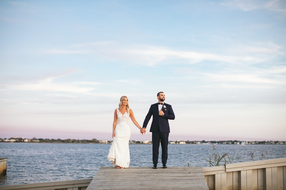 wedding portraits on the waterfront with Ashley Mac Photographs