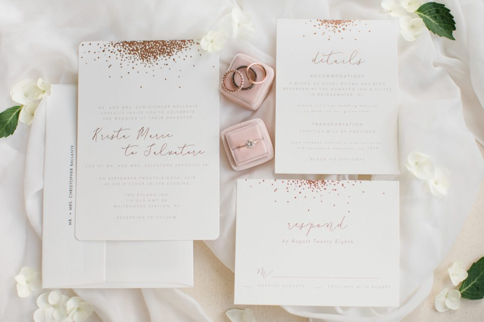 elegant rustic wedding invitation photographed by Ashley Mac Photographs