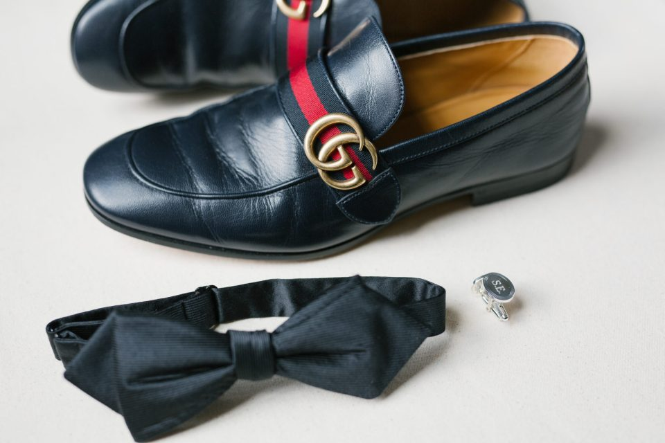 Gucci shoes for the groom photographed by Ashley Mac Photographs