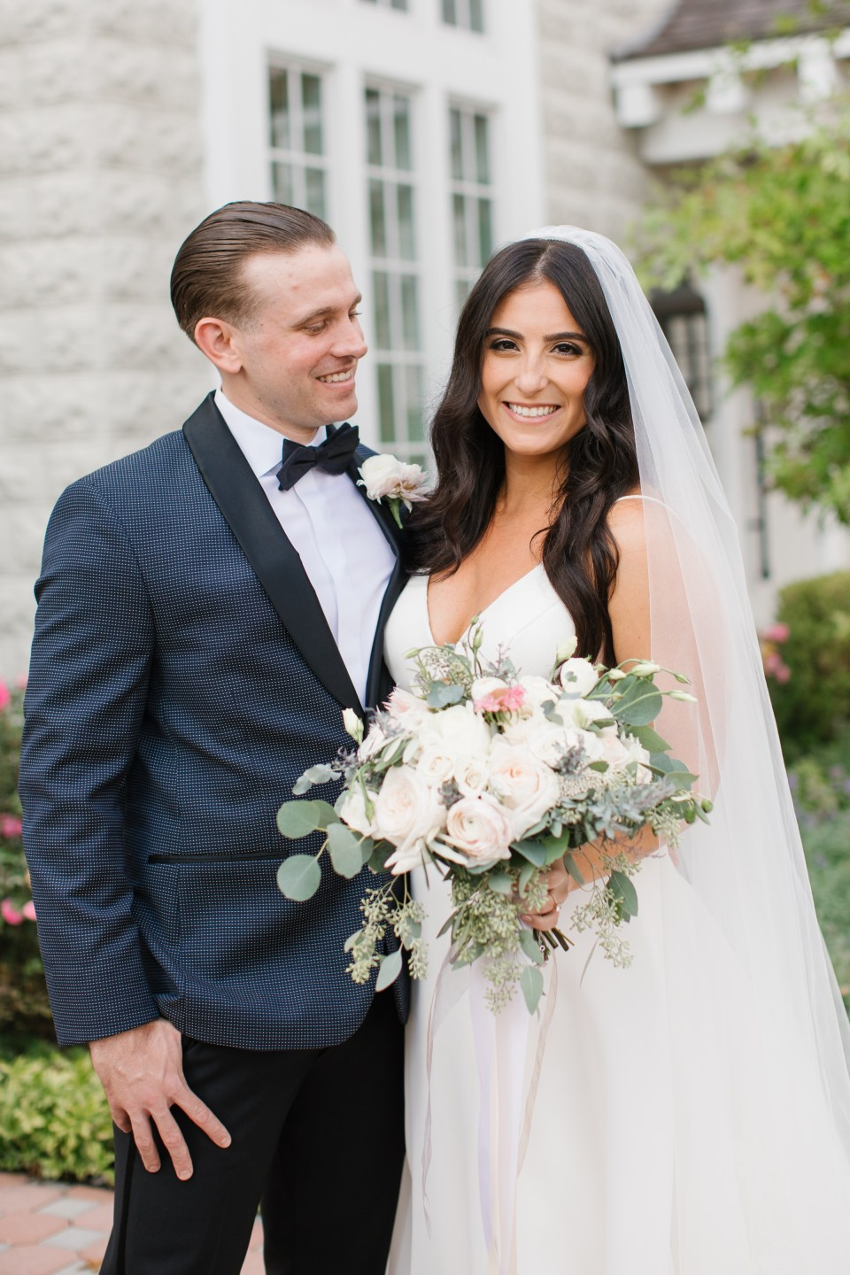 wedding portraits by New Jersey and destination wedding photographer Ashley Mac Photographs