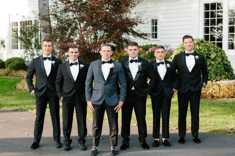 groomsmen portraits at Ryland Inn with Ashley Mac Photographs