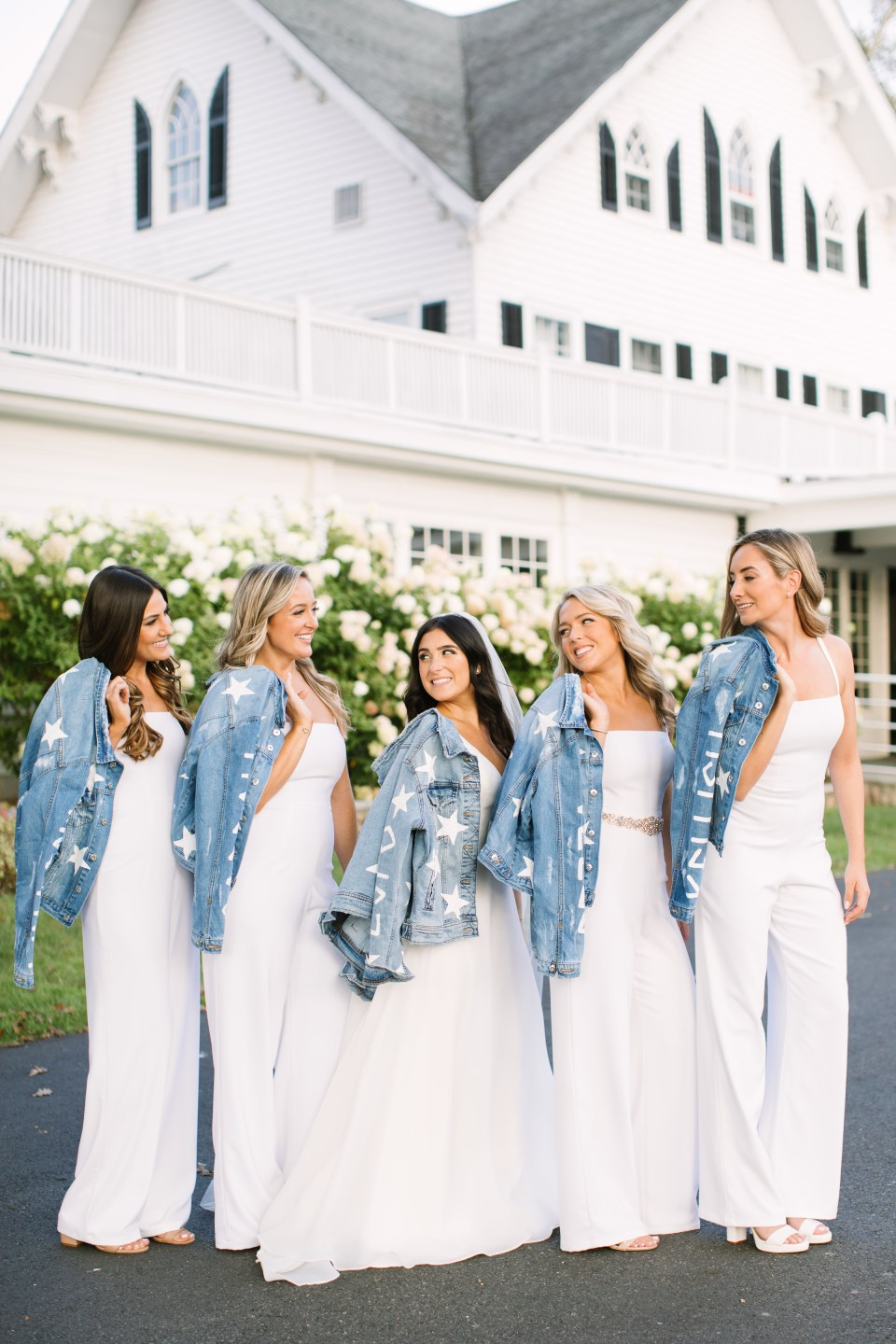 jean jackets for bridesmaids photographed by Ashley Mac Photographs
