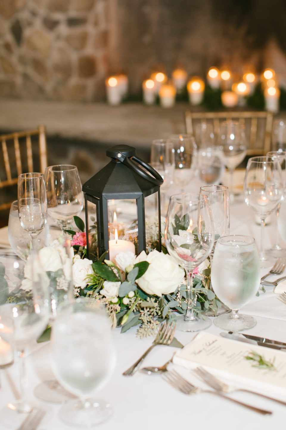 wedding centerpieces for rustic glam wedding reception