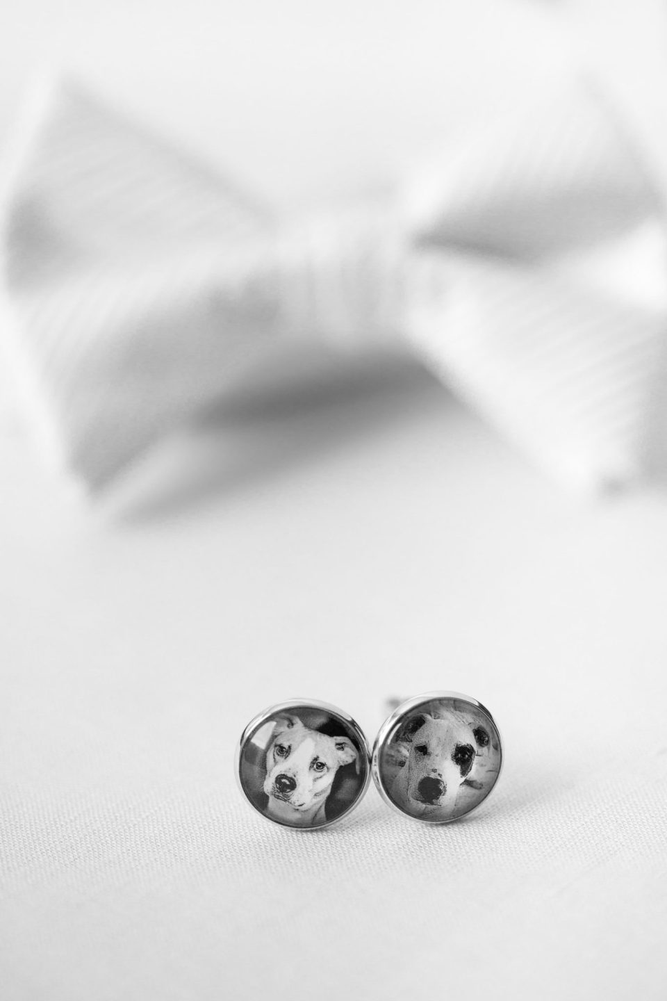 cufflinks with dog photos photographed by Ashley Mac Photographs