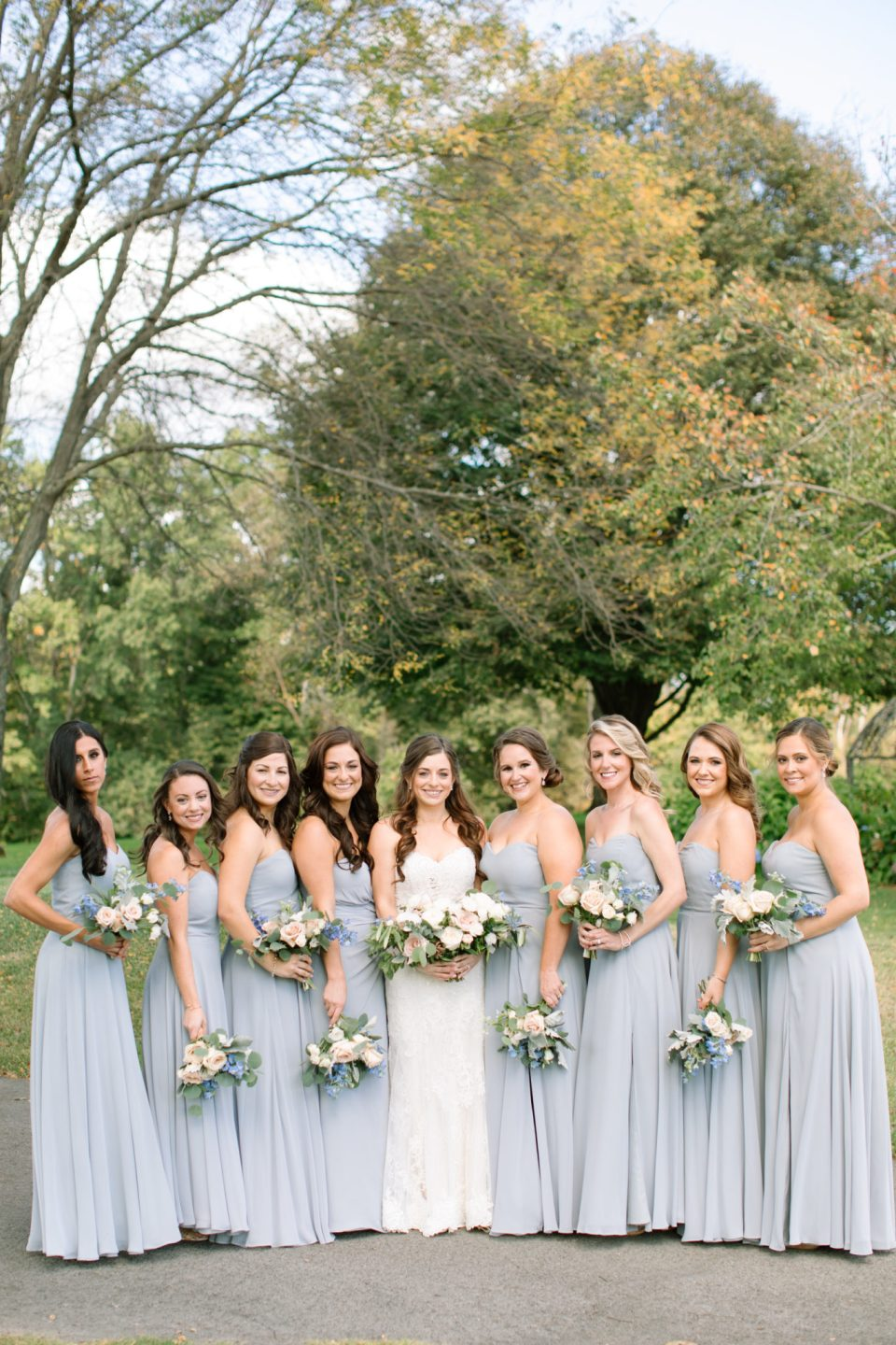 bridal party photographed by Ashley Mac Photographs