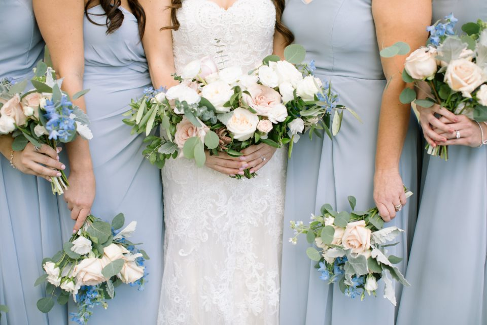 bridesmaid bouquets by Whisper and Brook Floral Company