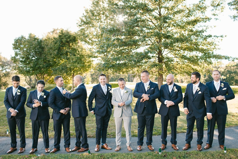 groomsmen at West Hills Country Club photographed by Ashley Mac Photographs