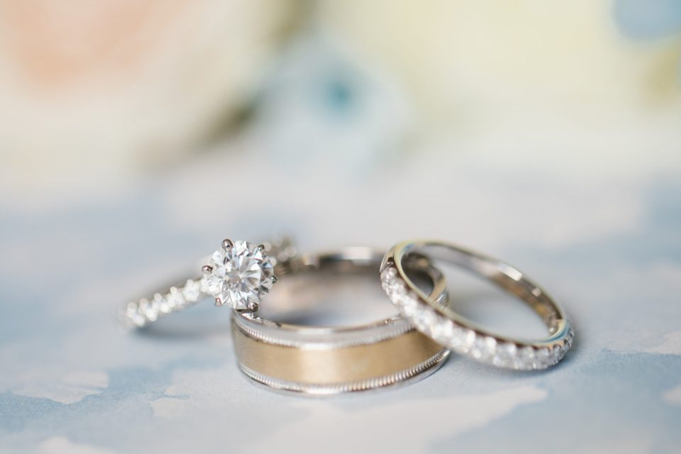 wedding rings for West Hills Country Club wedding photographed by Ashley Mac Photographs