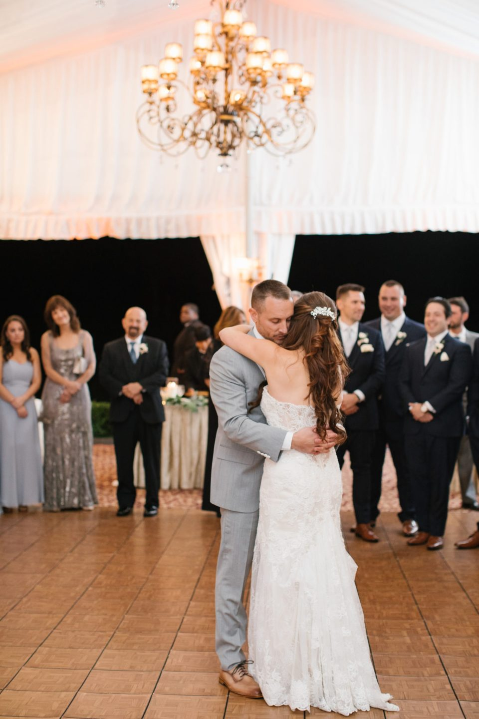 romantic New Jersey wedding first dance
