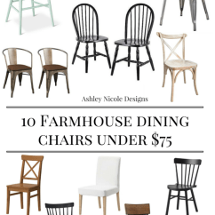 Farmhouse Dining Chairs Hanging Chair The Sims 4 10 Under 75 Ashley Nicole Designs