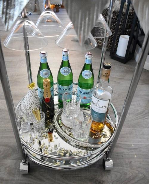 Ashley Nicole Interiors NYE Bar Cart