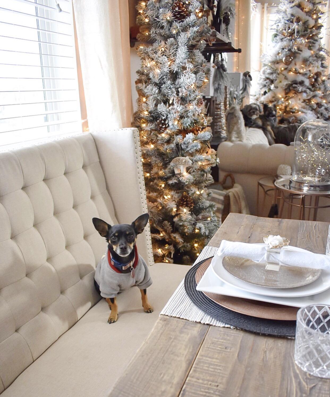 Ashley Nicole Interiors Christmas Tablescape