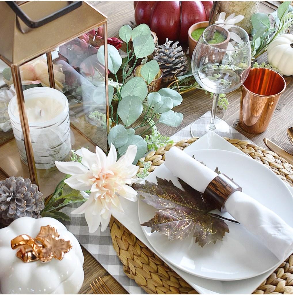 Ashley Nicole Interiors Copper Fall Tablescape