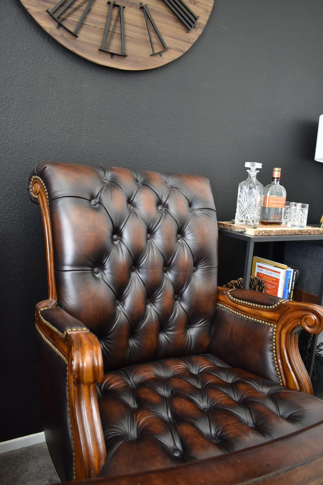 Ashley Nicole Interiors Dark Office