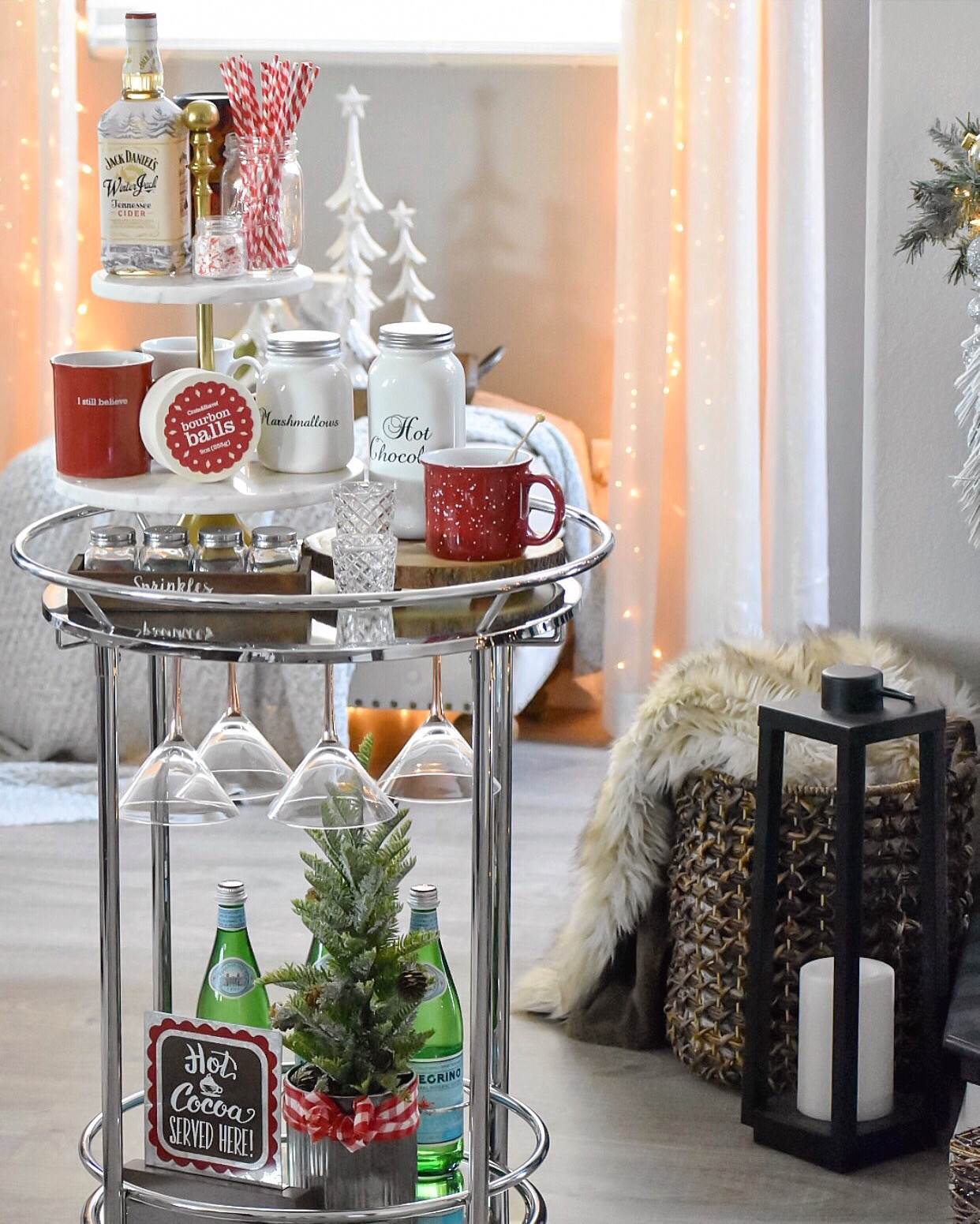 Ashley Nicole Interiors Christmas Decor Cocoa Bar