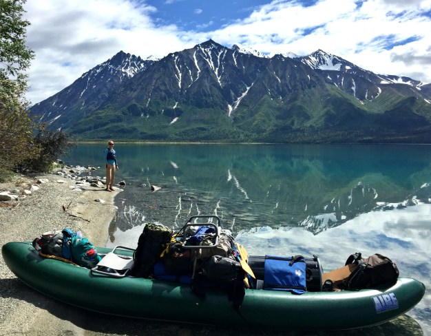 Canoe + all of our stuff.