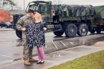 marine and wife reunited at homecoming in front of 7 ton