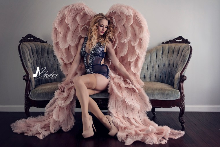 angel on couch