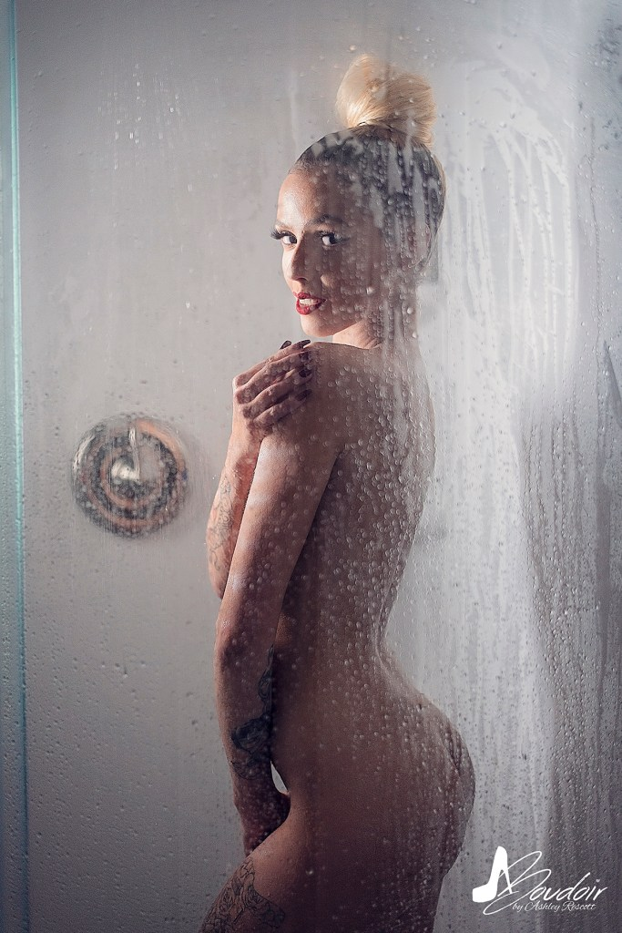 implied nude shower boudoir images