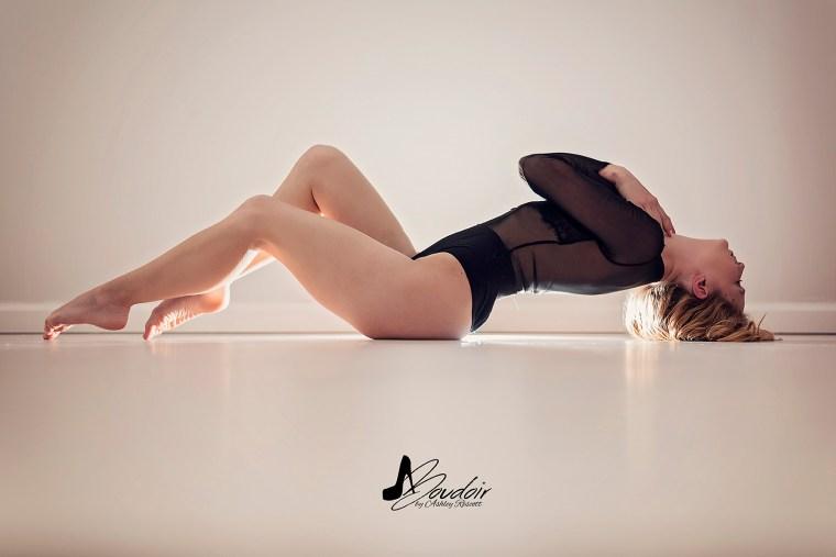 model lying on floor