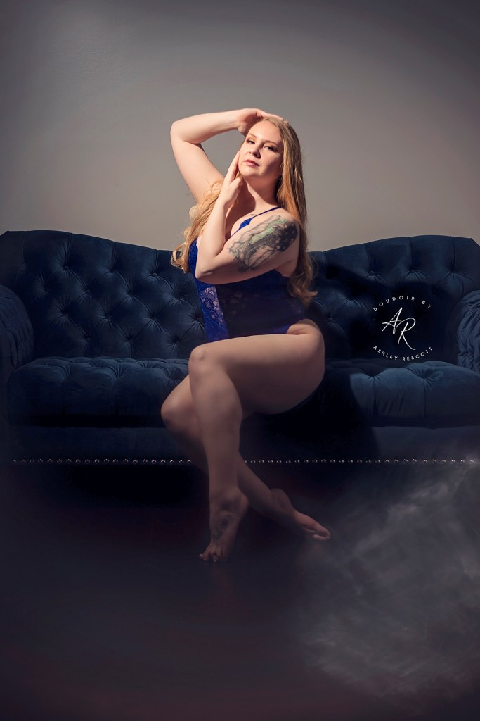 woman in lingerie sitting on couch
