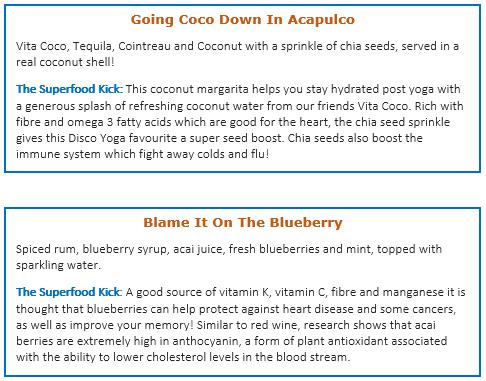 cocktail descriptions