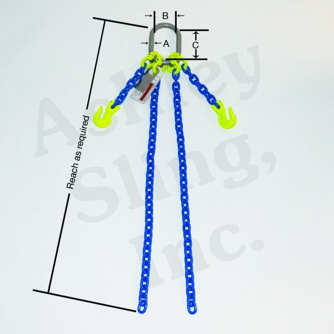 Double Adjustable Chain sling specs
