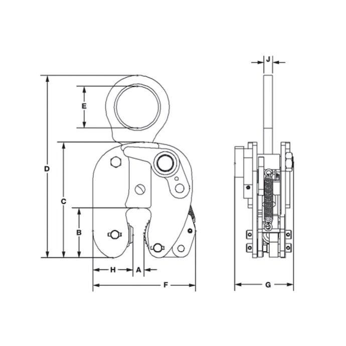 Model JA Specifications Image