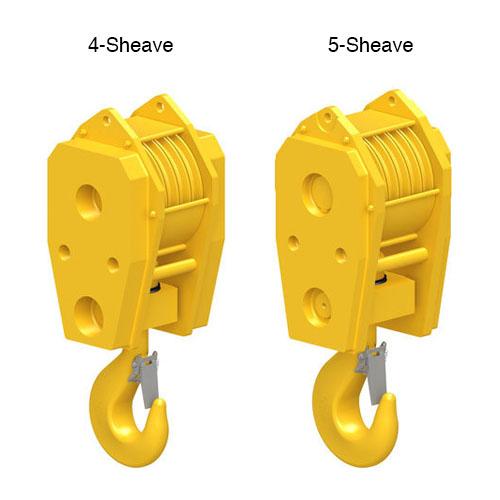 4 & 5 Sheave Standard Reeve Block