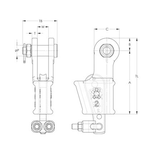 Tailgrip with Nut & Bolt Drawing
