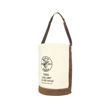 Canvas Bucket with Leather Bottom - 5104
