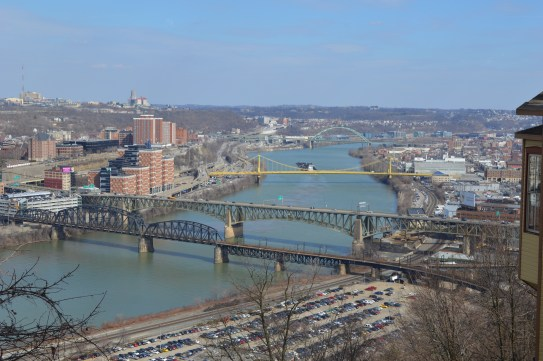 Over looking the city from the Monogahela Incline