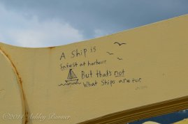 Loved these inspirational quotes on the Andy Warhol bridge