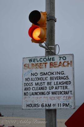 Cloudy evening at Sunset Beach.