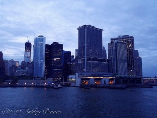 View of the city from the Stanton Island Ferry