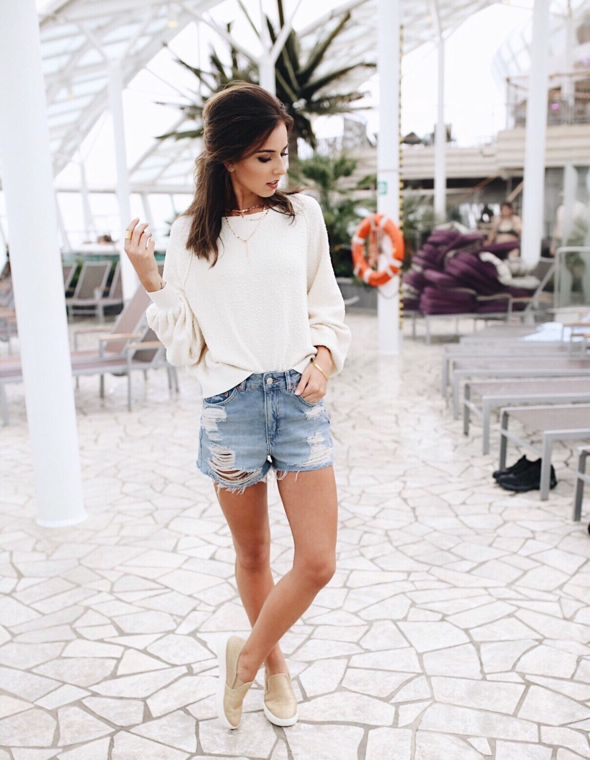 Cruise Outfit on Oasis of the Seas // Topshop // Free People // slip ons // royal carribbean - Oasis of the Seas Review featured by popular Los Angeles travel blogger, Ashley Hodges