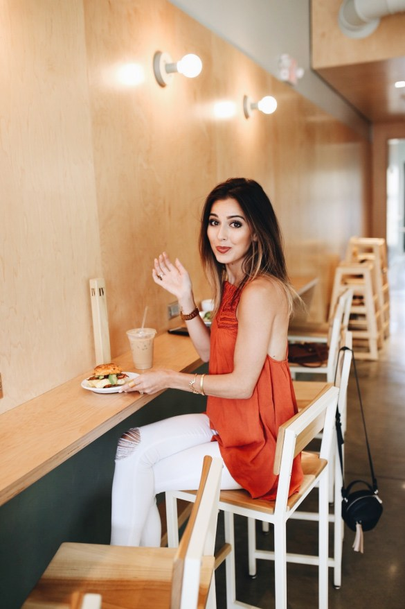 The BOX, Waverly Biscuit and Iced Vanilla Latte - THE ULTIMATE NASHVILLE CITY GUIDE featured by popular Los Angeles travel blogger, Ashley Hodges