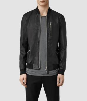 Allsaints - Leather Bomber Jacket