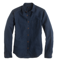 J.Crew Slim Indigo Club-Collar Shirt, $98